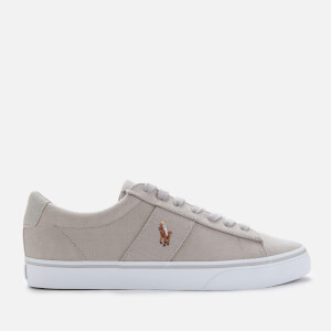 Polo Ralph Lauren Men's Sayer Canvas Low Top Trainers - Soft Grey