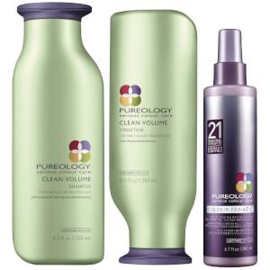 Pureology Clean Volume Trio - Coloured Hair