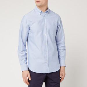 Officine Generale Men's Button Down Oxford Shirt - Blue