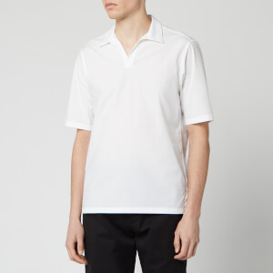 Officine Generale Men's Yann Popover Polo Shirt - White