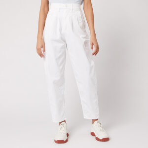 Levi's Women's Pleated Balloon Leg Jeans - White Fine Twill