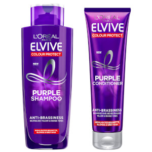 L'Oréal Paris Elvive Colour Protect Anti-Brassiness Purple Shampoo and Conditioner Set - Exclusive
