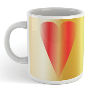 Contemporary Heart Art Mug