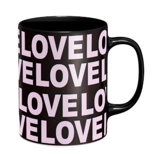 Love Love Love Love Mug - Black