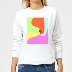 Rainbow Love Swirl Women's Sweatshirt - White