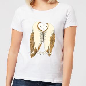 Nuzzling Barn Owls Women's T-Shirt - White
