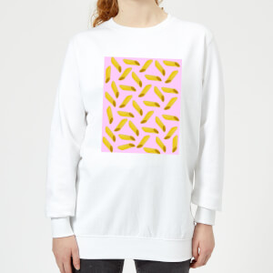 Penne Pasta Pink Women's Sweatshirt - White