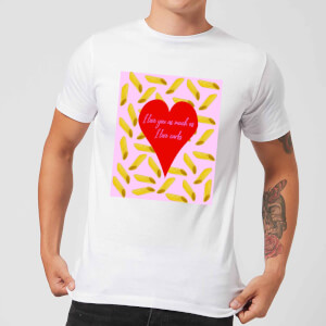 I Love You But Not As Much As ... Men's T-Shirt - White