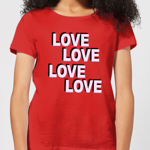 Love Love Love Love Women's T-Shirt - Red