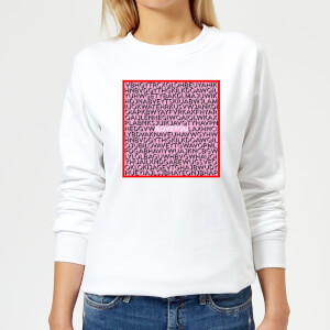I Love You Word Search Women's Sweatshirt - White
