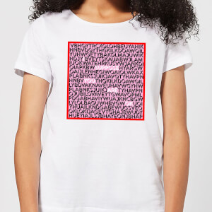 I Suppose You Are Ok Word Search Women's T-Shirt - White