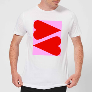 Giant Red Hearts Men's T-Shirt - White