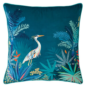 Sara Miller Heron Cushion - Teal