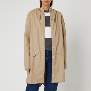 RAINS Women's Long Jacket - Beige