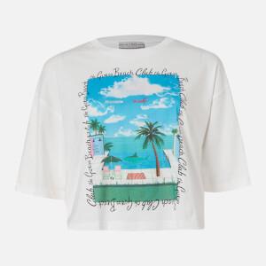 Guess Women's Short Sleeve RN Beach T-Shirt - True White