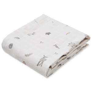 Cam Cam Printed Muslin Cloth - Fawn (Pack of 2)
