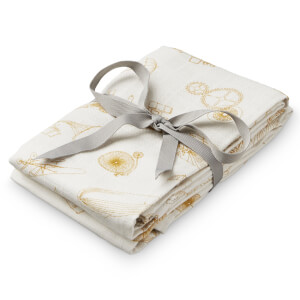 Cam Cam Printed Muslin Cloth - Inventions (Pack of 2)