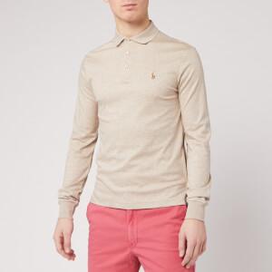 Polo Ralph Lauren Men's Long Sleeve Pima Polo Shirt - Tuscan Beige Heather