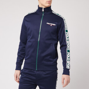 Polo Ralph Lauren Men's Polo Sport Stripe Fleece Track Jacket - Cruise Navy