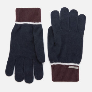 Ted Baker Men's Woolglo Knitted Colour Block Gloves - Navy