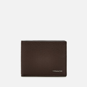 Coach Men's Pebble Leather Slim Bill Wallet - Oak