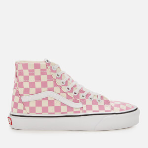Vans Women's Sk8-Hi Tapered Checkerboard Hi-Top Trainers - Fuchsia Pink/True White
