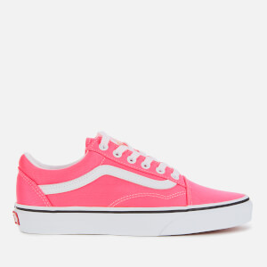 Vans Women's Old Skool Neon Trainers - Knockout Pink/True White