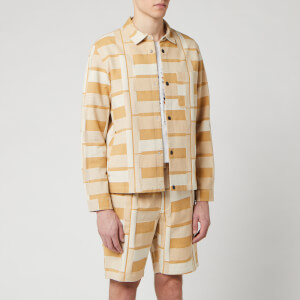 Folk Men's Orb Jacket - Marigold Jacquard