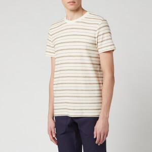 Folk Men's Textured Stripe T-Shirt - Ecru Fog