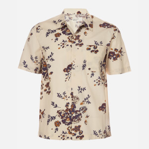 Universal Works Men's Flower Print Road Shirt - Ecru