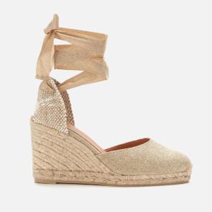 Castañer Women's Carina Wedged Espadrille Sandals - Oro Claro