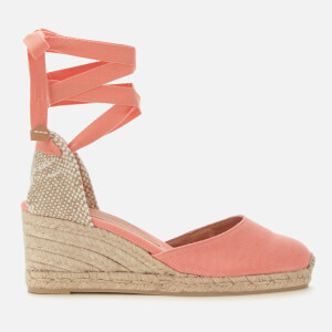 Castañer Women's Carina Wedged Espadrille Sandals - Albaricoque