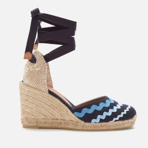 Castañer Women's Craby Wedged Espadrille Sandals - Azul Multi
