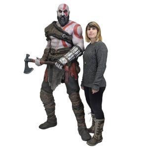 NECA God of War (2018) - Life-Size Foam Replica - Kratos