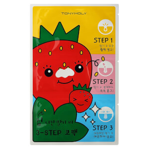 TONYMOLY Runaway Strawberry Seeds 3 Step Nose Pack 6g