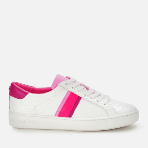 MICHAEL MICHAEL KORS Women's Irving Stripe Cupsole Trainers - Neon Pink