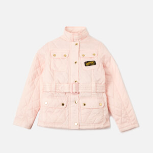 Barbour Girls' Flyweight International Quilted Jacket - Cameo Pink