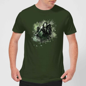 The Lord Of The Rings Aragorn Colour Splash Men's T-Shirt - Forest Green
