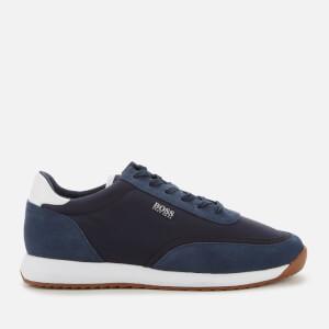 BOSS Business Men's Sonic Runn Nylon Running Style Trainers - Dark Blue