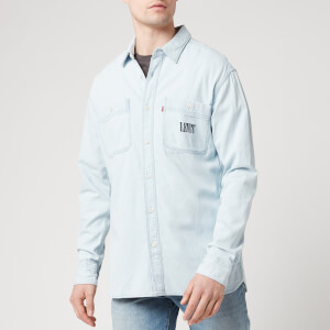 Levi's Men's New Camp Overshirt - Sun Bleached Indigo