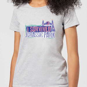 Jurassic Park I Survived Jurassic Park Women's T-Shirt - Grey