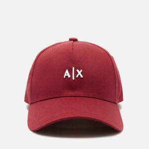 Armani Exchange Men's Small Logo Cap - Red