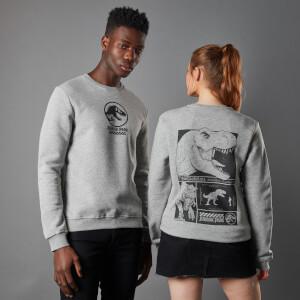 Jurassic Park Priimal T-Rex Unisex Sweatshirt - Grey