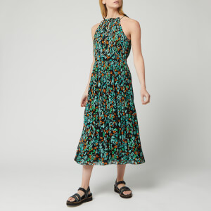 Whistles Women's Forest Floral Halter Midi Dress - Blue/Multi