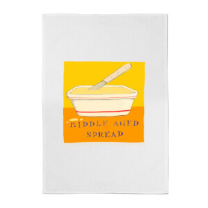 Poet and Painter Middle Aged Spread Cotton Tea Towel