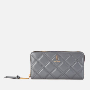 Marc Jacobs Women's Quilted Softshot Standard Continental Wallet - Dark Grey