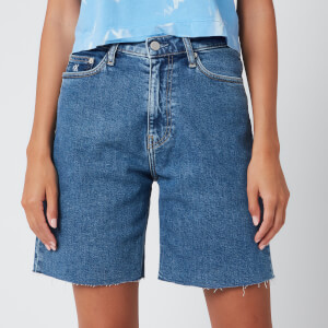 Calvin Klein Jeans Women's Mom Shorts - Light Blue