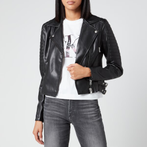 Calvin Klein Jeans Women's Faux Leather Biker Jacket - CK Black