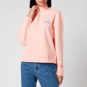 Tommy Jeans Women's Summer Mock Neck Sweatshirt - Sweet Peach