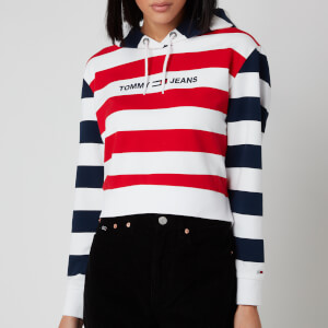 Tommy Jeans Women's Multistripe Hoody - Twilight Navy